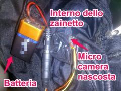 telecamera nascosta zainetto